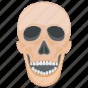 creepy skull, death, ghost, halloween skull, skull icon