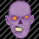 devil, evil, ghost, grim, scary face icon