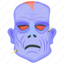 death, evil face, evil halloween, evil head, halloween character icon