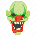 creepy clown, evil, ghost, halloween character, scary clown icon