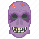 creepiest character, halloween character, horrible face, scary, terrifying halloween icon