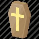casket, coffin, death, halloween casket, halloween coffin icon