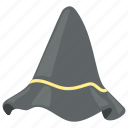 halloween cap, halloween costume, spooky, witch cap, witch hat icon