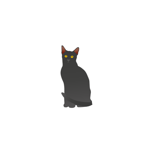 black cat, cat icon