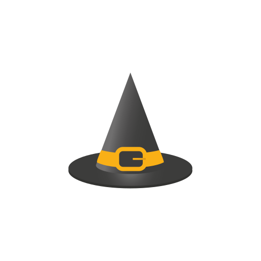 hat, witches, witches hat icon