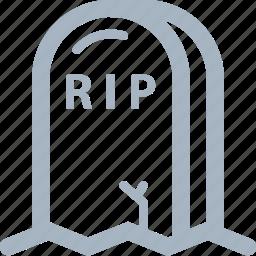 halloween, rip, tombstone icon