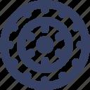 dart, sport, target icon