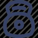 bell, kettle, kettlebell, sport icon