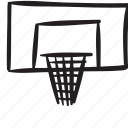 basket, ring, sport icon
