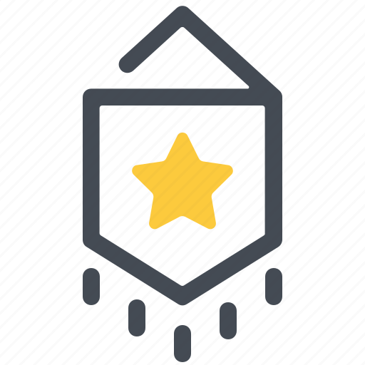 Achievement, banner, ensign, flag, pennant, prize, winner icon - Download on Iconfinder