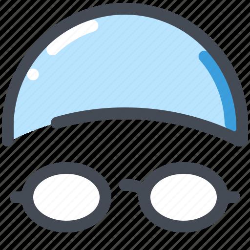 goggles, pool, sport, sports, swimmer, swimming icon