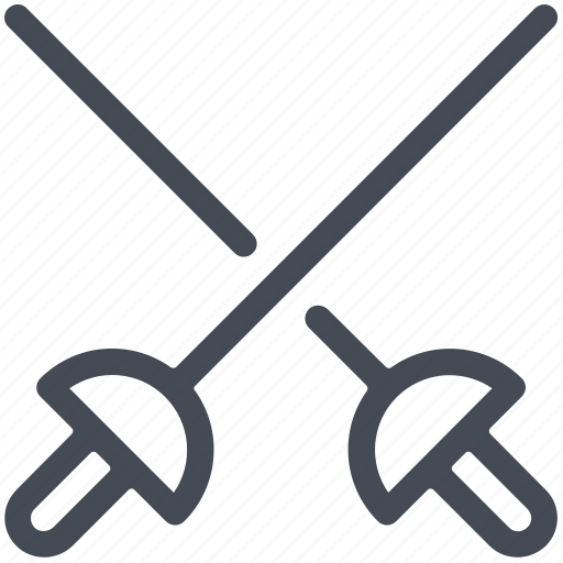 Combat, cross, fencing, games, olympics, sports, swords icon - Download on Iconfinder
