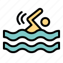 holidays, sports, swimming, water icon