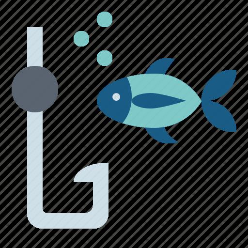fishing, holidays, hook, steel icon