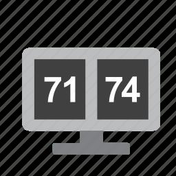basketball, scoreboard, sport, sports icon