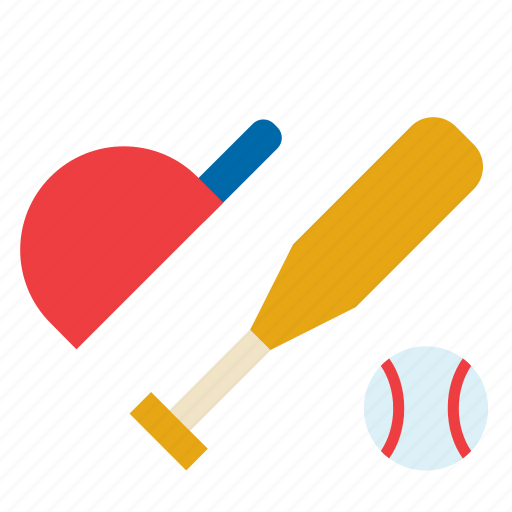 ball, baseball, bat, cap, sport, sports icon