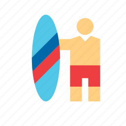 man, people, sport, sports, surf, surfer, surfing icon