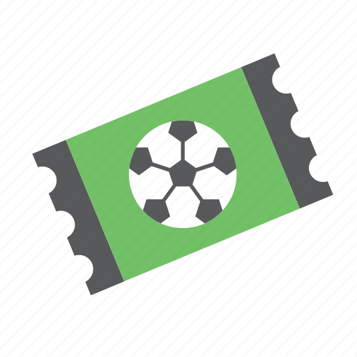 ball, football, soccer, sport, sports, ticket icon