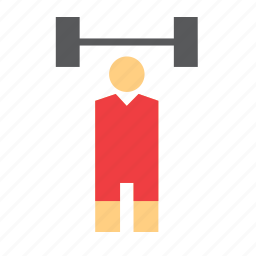olympic, olympics, people, sport, sports, weightlifter, weightlifting icon