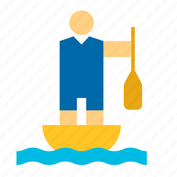 canoe, canoeing, olympic, olympics, sport, sports, sprint icon