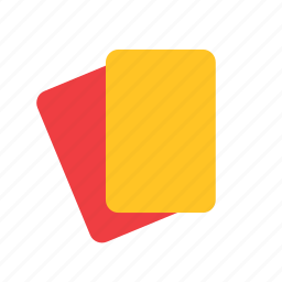 card, football, red, refree, soccer, sport, yellow icon