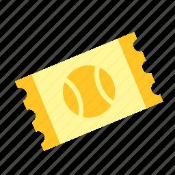 sport, sports, tennis, ticket icon