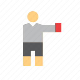 football, people, red card, referee, soccer, sport, sports icon