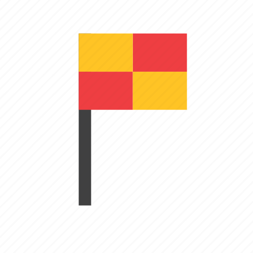 assistant, flag, football, referee, soccer, sport, sports icon