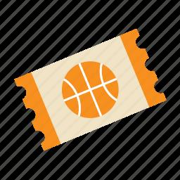 ball, basket, basketball, sport, sports, ticket icon
