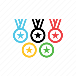 games, medals, olympic, olympics, rings, sport icon