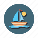 boat, boating, sail, sailing, ship icon