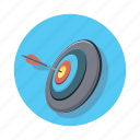 arrow, bullseye, pointer, target icon
