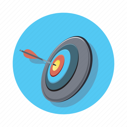arrow, bullseye, pointer, target icon