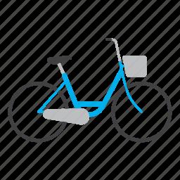 bicycle, bike, bike icon, cycling, ride, sport, women icon