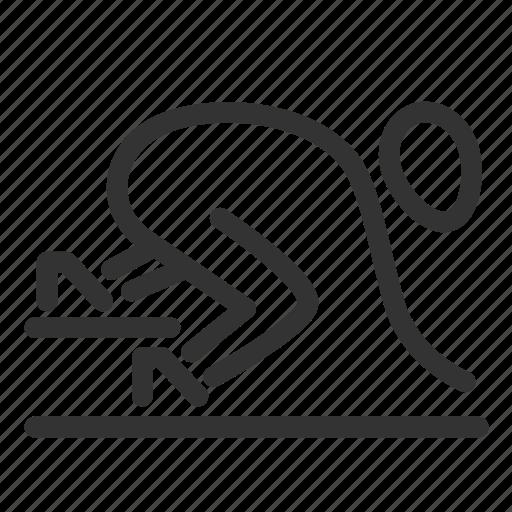 Athletics, run, sport, sprint, start, runners, track icon - Download on Iconfinder