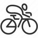 bicycle, bike, cycling, exercise, fitness, racing, sport icon