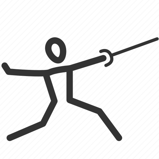 exercise, fencing, martial arts, rapier, sabre, sport, training icon