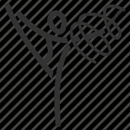 acrobatic, gymnast, gymnastics, olympics, rhythmic, ribbon, sport icon