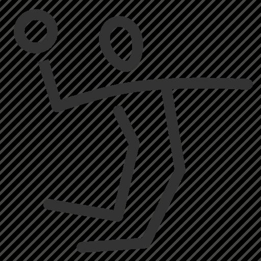 basketball, dodgeball, exercise, game, handball, jump, sport icon