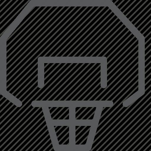 backboard, ball, basketball, game, sport, training icon