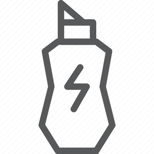 bottle, camping, drink, energy, power, sport, travel, water icon