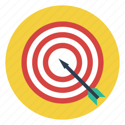 archery, arrow, bull's eye, fletching, outdoors, sport, target icon