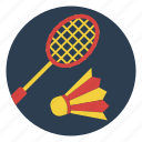 badminton, birdie, game, outdoors, play, racket, sport icon