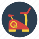 bicycle, exercise, fitness, gym, lifestyle, weight loss, workout icon