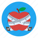apple, diet, fruit, healthy, lifestyle, slim, weight loss icon