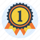 award, contest, first place, medal, prize, ribbon, winner icon