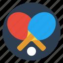 ball, tennis, paddle, game, racket, table, ping pong icon