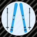 mountain, outdoors, ski, slope, snow, sport, winter icon