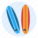 beach, boards, lifestyle, sport, surf, water, waves icon