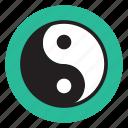 healthy, lifestyle, relax, spiritual, yang, yin, yoga icon